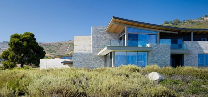 Огромный Altamira Residence с видом на океан в Калифорнии