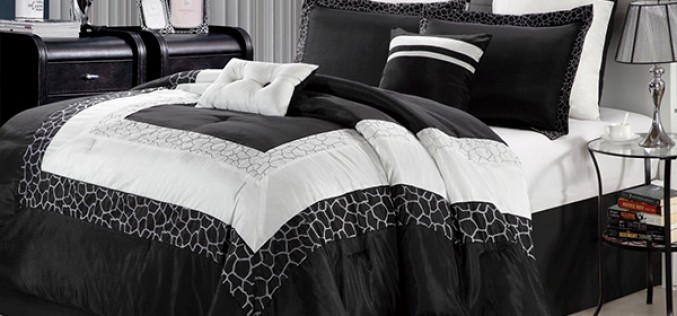 Черно-белые комплекты постельных принадлежностей