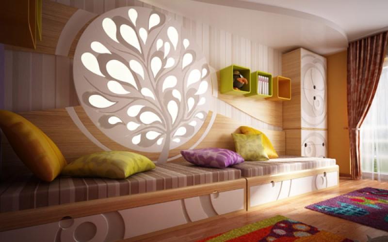 Оригинальные детские спальни Дизайн, Демонстрация ярких цветов и текстуры