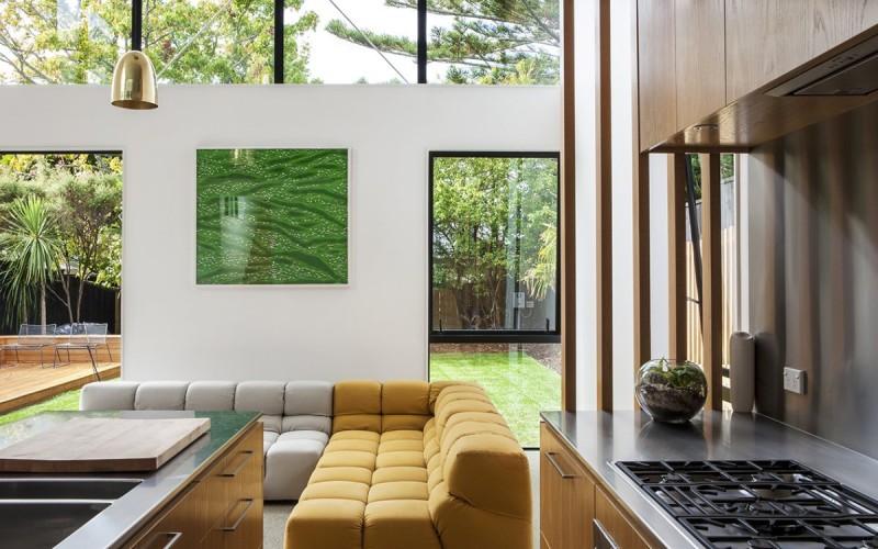 Стиль «куб» в коттедже работника наследия в Окленде, Новая Зеландия.