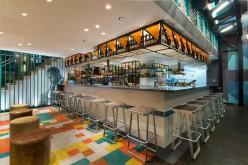 BlueTrain ресторан, расположенный в Мельбурне, Австралия.