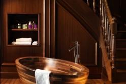 Изысканные деревянные конструкции ванны