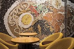 Прохладный Ramen ресторан во Вьетнаме Интеграция Мозаика стены