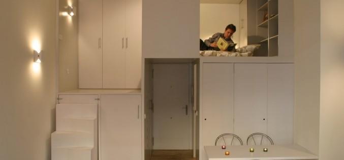 Компактный Лофт в Мадриде Показано Smart Solutions хранения по Берио Бернардини Arquitectos