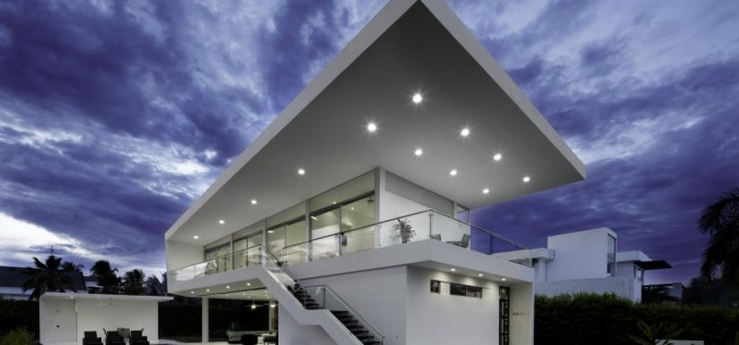 Casa Penon в Жирардо, Колумбии.