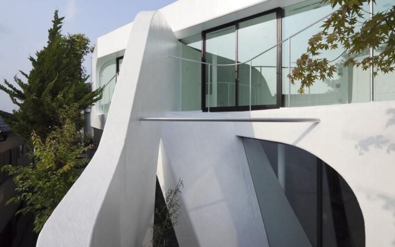 Дом с именем целлулоид Jam в Йокогама, Япония.