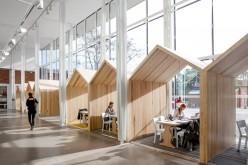 Интерьер  под названием Будущая среда обучения для Каролинского института в Швеции.