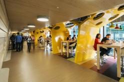 Интерьеры Кампус Google в Дублине, Ирландия.