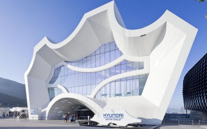 Павильон для группы Hyundai Motor в рамках ЭКСПО-2012 в Есу, Южная Корея.
