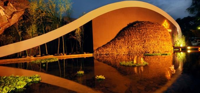 Ресторан Хардин дель Азии в рамках Лос Tajibox Отель в Санта-Крус-де-ла-Сьерра, Боливия.