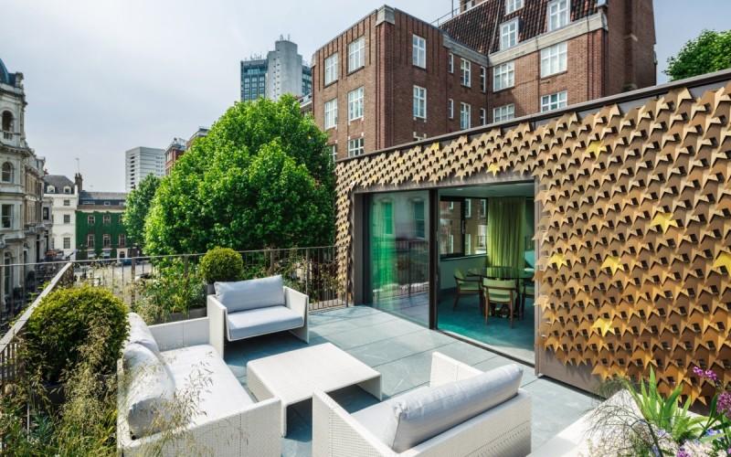 фасадный лист на частный дом в Лондоне.