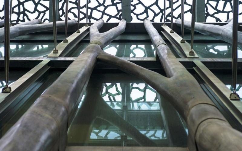 Музей европейских и средиземноморских цивилизаций (MuCEM), расположенный в Марсель, Франция и по проекту архитектора Руди Риччиотти .