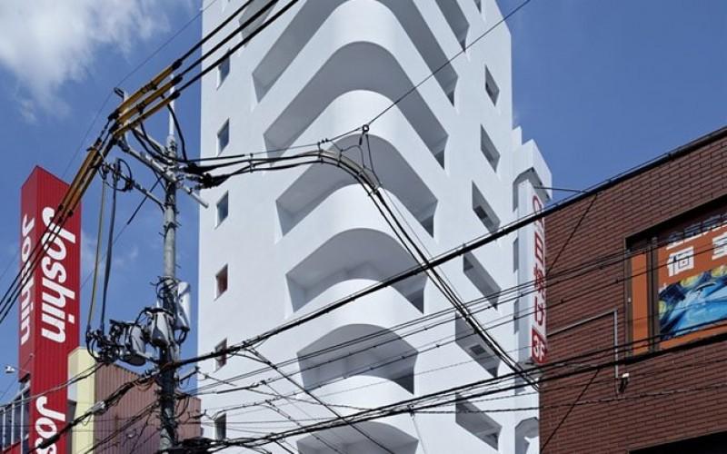 Офис  башня в Осаке, Япония.