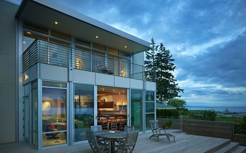 Современные стеклянные фасады