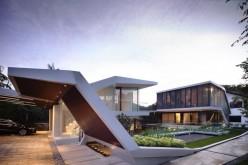 Блестящая геометрия  дом в сингапуре