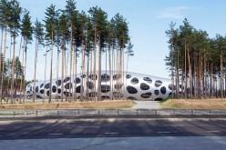 Арена под соснами ФК БАТЭ, спроектированный словенским бюро Ofis.