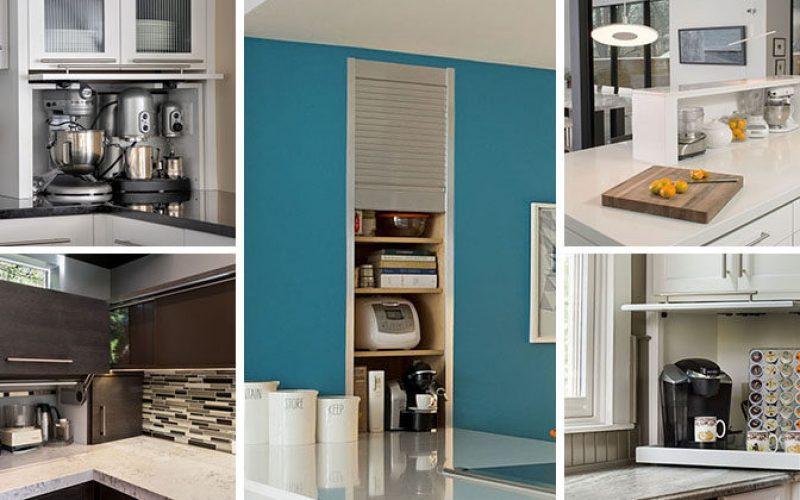 Kitchen Design Idea – Store Your Kitchen Appliances In An Appliance Garage