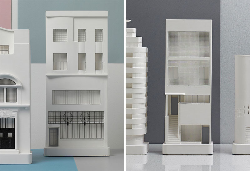40 Awesome Gift Ideas For Architects And Interior Designers // A simple decorative white model of a building they like.