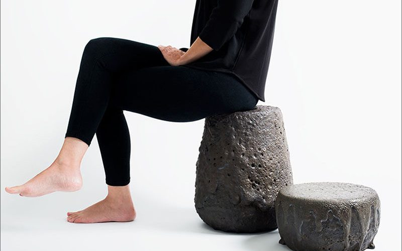 These Stools Were Made By Re-Melting Lava Rock