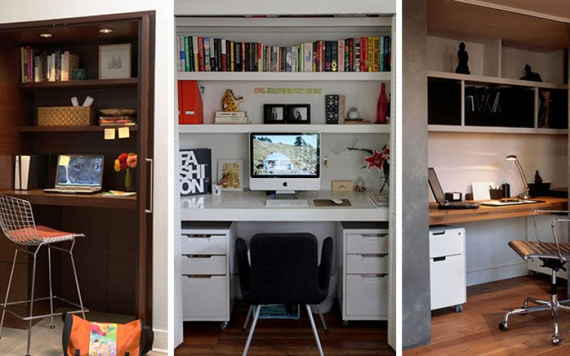 Small Apartment Design Idea – Create A Home Office In A Closet
