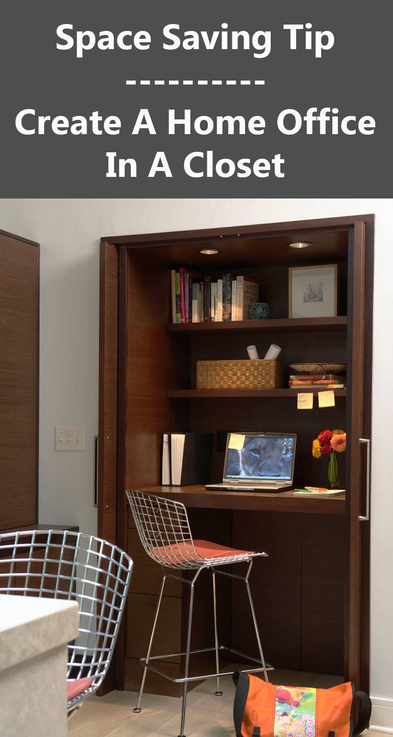 Small Apartment Design Ideas - Create A Home Office In A Closet