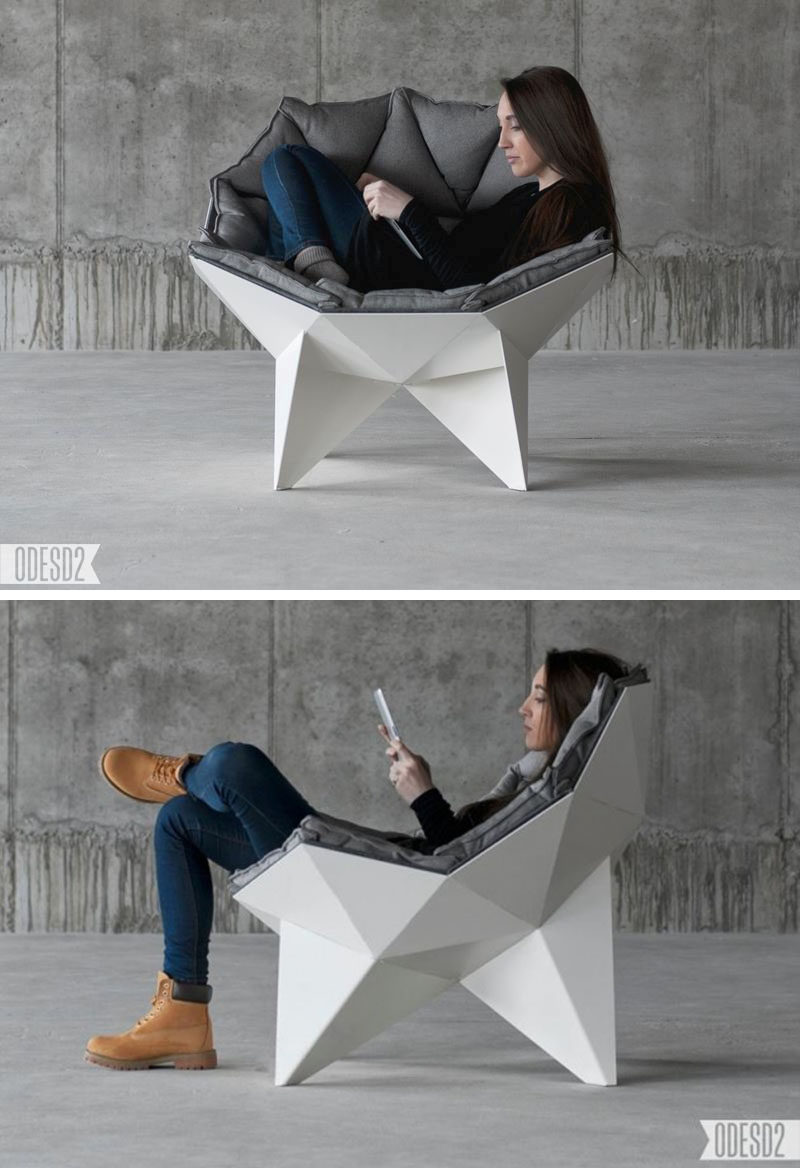 12 Comfy Chairs Perfect For Relaxing In // The geometric and dome-like shape of this chair allows you to move around and change positions so you're always perfectly comfortable.