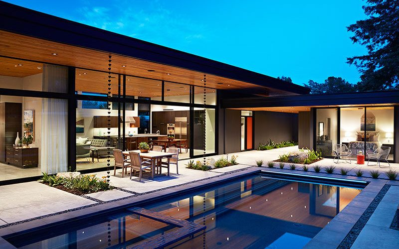 The Design Of This House In California Was Inspired By The Original Mid-Century Modern Home It Replaced