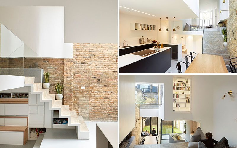 This British Home Has Been Redesigned To Include A Split-Level Interior