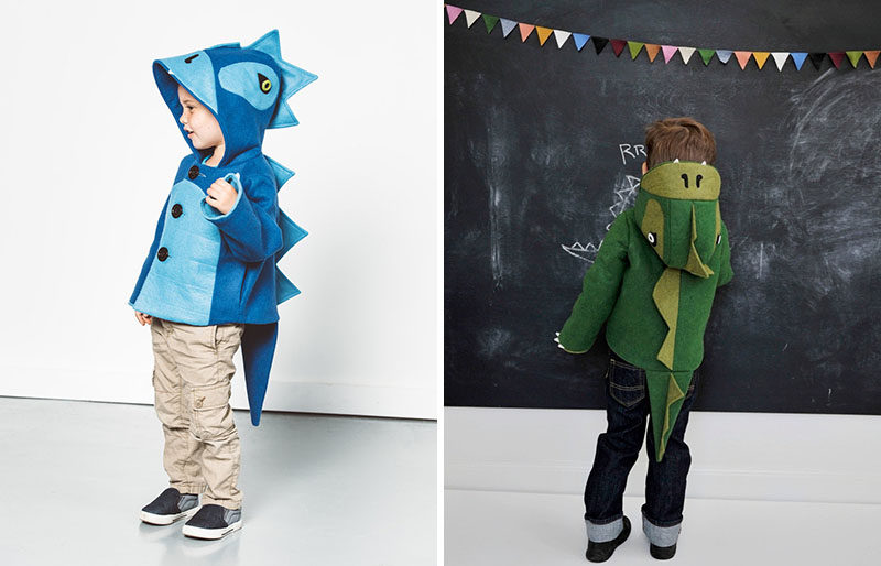 Gift Guide - 30+ Gift Ideas For The Modern Kid In Your Life // Bring back the dinosaurs with a dinosaur jacket that your child can wear all the time.
