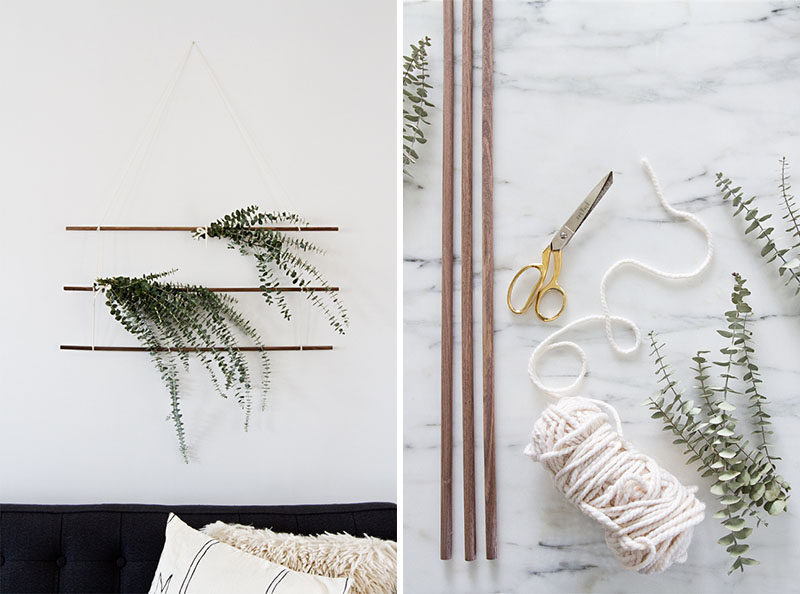 Aromatherapy Ideas - 9 Ways To Make Your Home Smell Amazing // A hanging of herbs or scented greenery is a great way to decorate your house for the holidays and fill it with relaxing scents of eucalyptus, rosemary or pine.