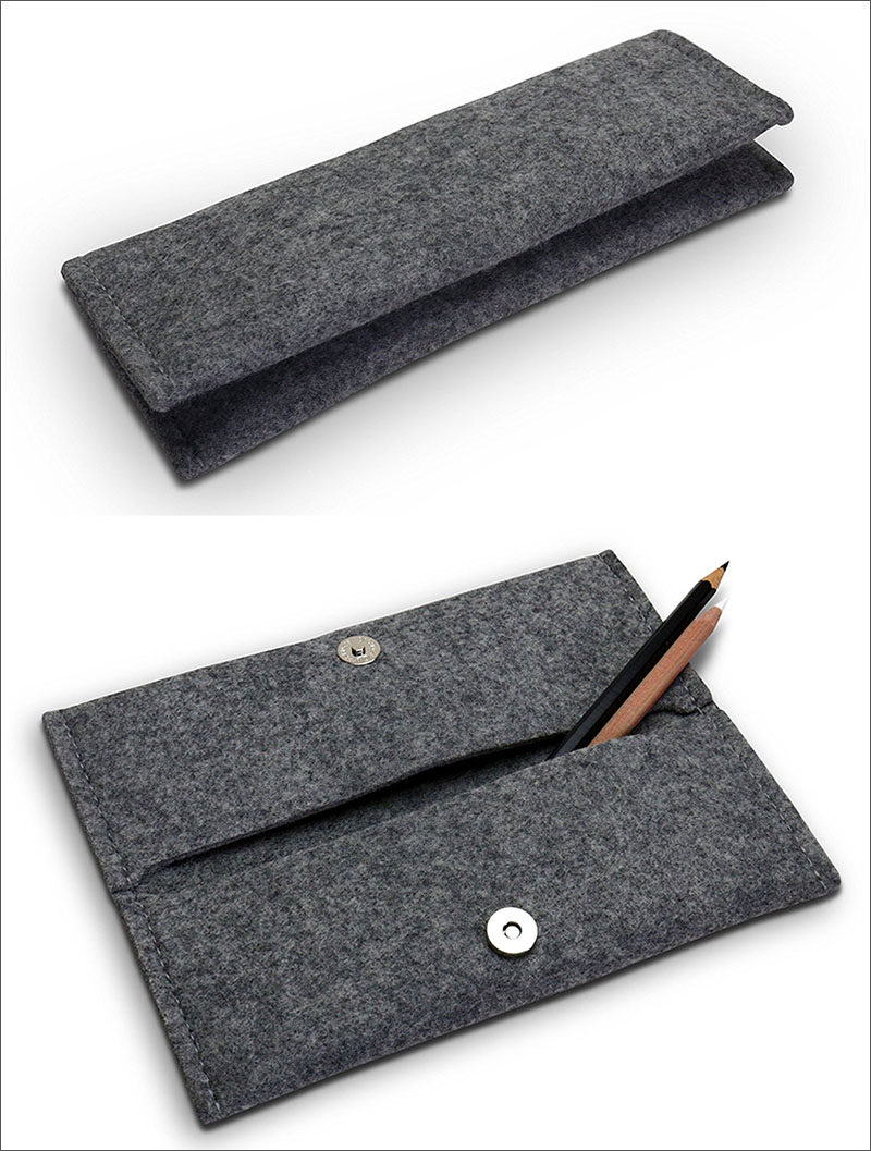 The Ultimate Gift Guide For The Modern Woman (40 Ideas!) // A simple felt pencil case with multiple pockets creates the perfect place to store pens and pencils as well and maybe even a phone charger and lipstick for when she's on the go.