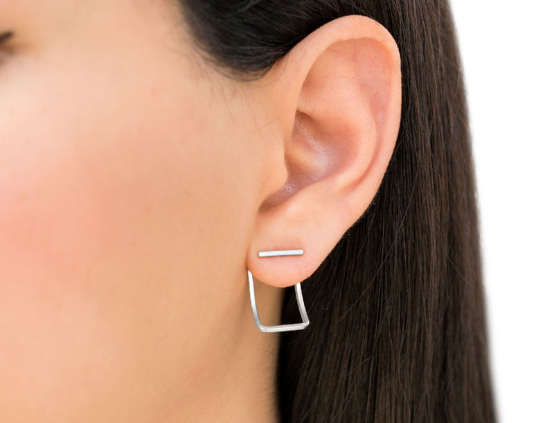 The Ultimate Gift Guide For The Modern Woman (40 Ideas!) // Simple geometric earrings will always go over well.