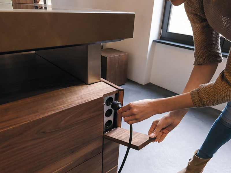 Kitchen Design Ideas - Hide Your Electrical Outlets