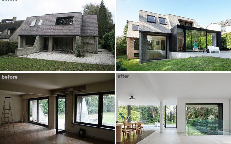 До и после реконструкции и расширения Фламандского Вилла