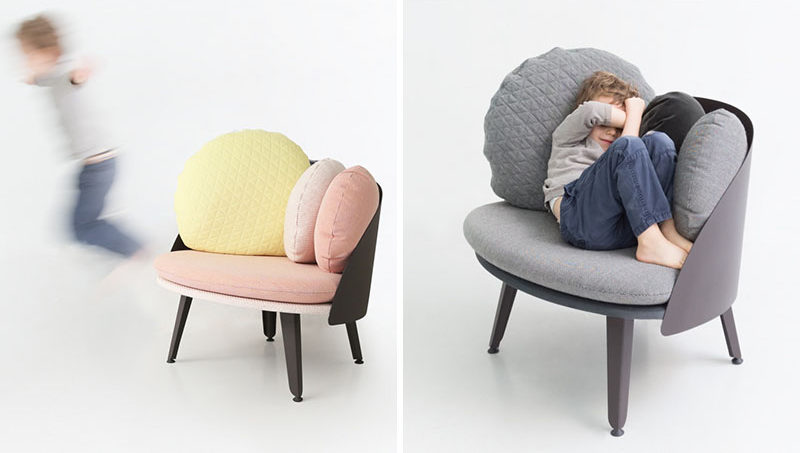 12 Comfy Chairs Perfect For Relaxing In // Kids like to get comfy too! These small chairs are just the right size for them to lounge and relax on (or leap from).