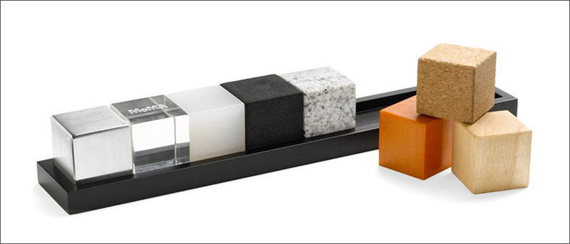 40 Awesome Gift Ideas For Architects And Interior Designers // Architect cubes of different materials.