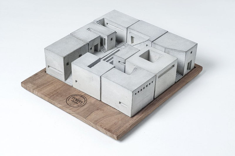 40 Awesome Gift Ideas For Architects And Interior Designers // Mini concrete homes to play with.