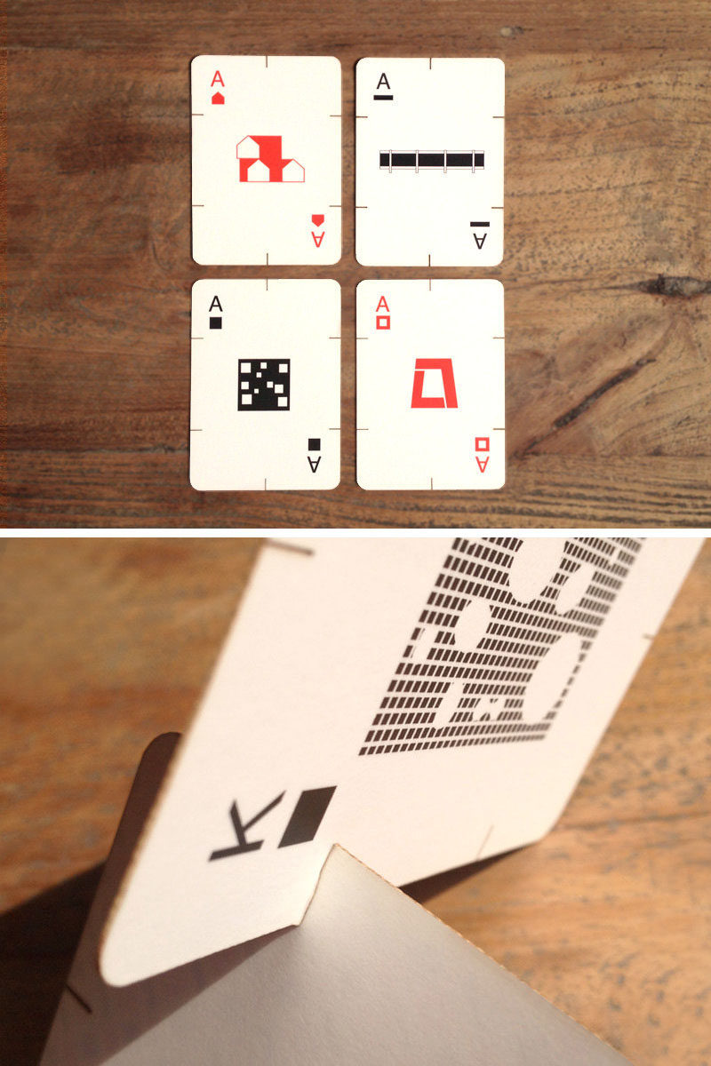 40 Awesome Gift Ideas For Architects And Interior Designers // Architecturally inspired playing cards.