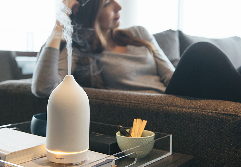 Aromatherapy Ideas - 9 Ways To Make Your Home Smell Amazing // Diffusers release a scent throughout the day.