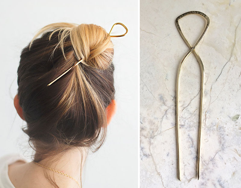The Ultimate Gift Guide For The Modern Woman (40 Ideas!) // A large hair pin is great girls with lots of hair. It keeps it out of their way and lets them experiment with a new way of doing their hair.