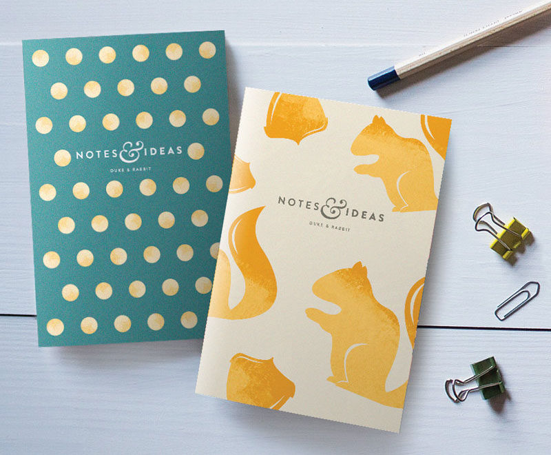 The Ultimate Gift Guide For The Modern Woman (40 Ideas!) // Include a touch of glam with this pair of blank pocket notebooks, so she always has paper on hand to write ideas and lists.