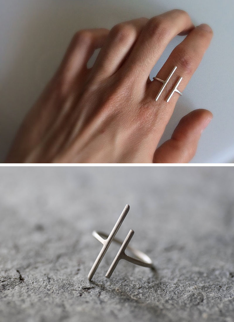 The Ultimate Gift Guide For The Modern Woman (40 Ideas!) // Minimalist rings are great because on their own they make a statement but when they're paired with other rings they don't look too bulky.
