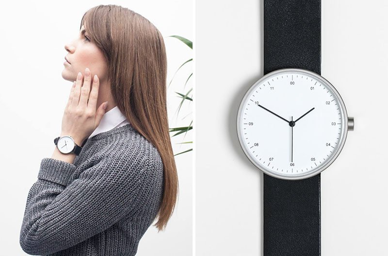 The Ultimate Gift Guide For The Modern Woman (40 Ideas!) // This traditional watch with a contemporary spin has a large face and a simple band to put the focus on the time and create a simple and stylish functional accessory.