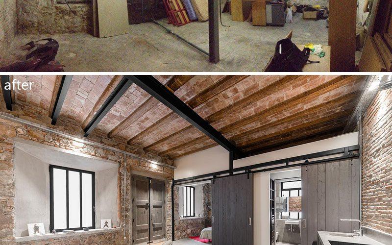 До и после семинара этот старый плотник был превращен в современного жилого пространства