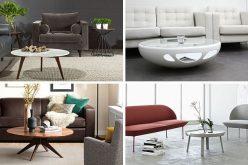 Идеи мебели – круглые журнальные столики из стекла, дерева, мрамора и металла