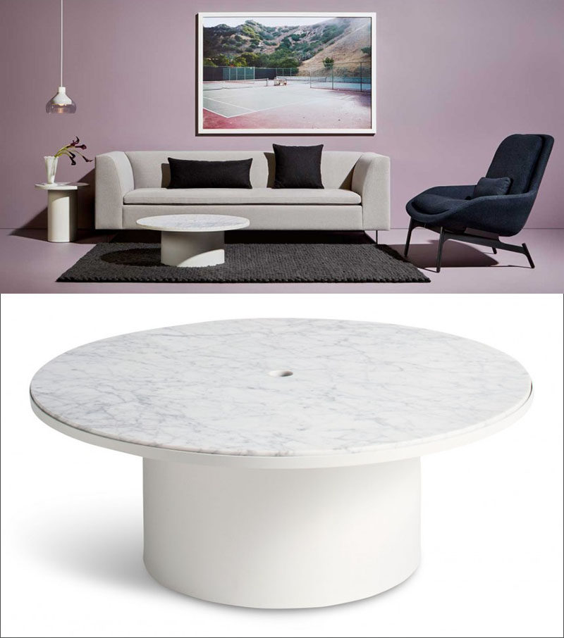 Furniture Ideas - Round Coffee Tables Made From Marble