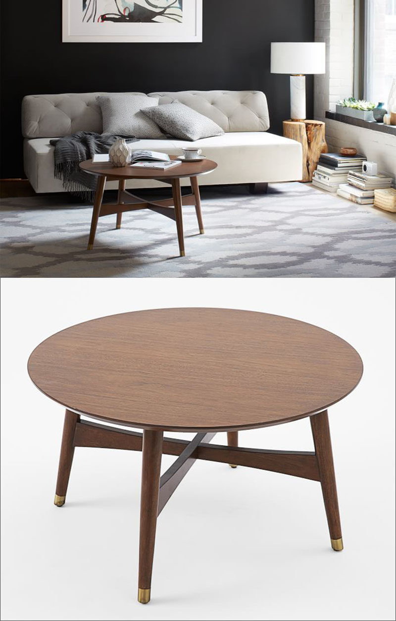 Furniture Ideas - Round Coffee Tables Made From Wood