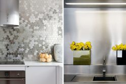 Kitchen Design Idea – Install A Stainless Steel Backsplash For A Sleek Look