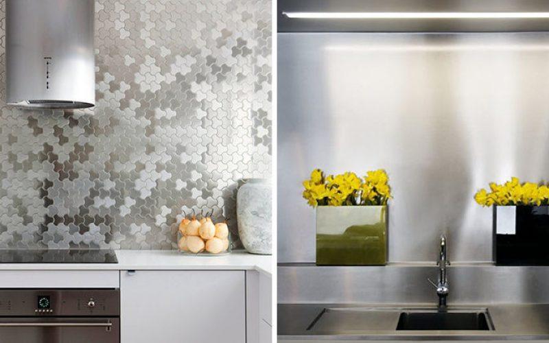 Kitchen Design Idea – Install A Stainless Steel Backsplash For A Sleek Look