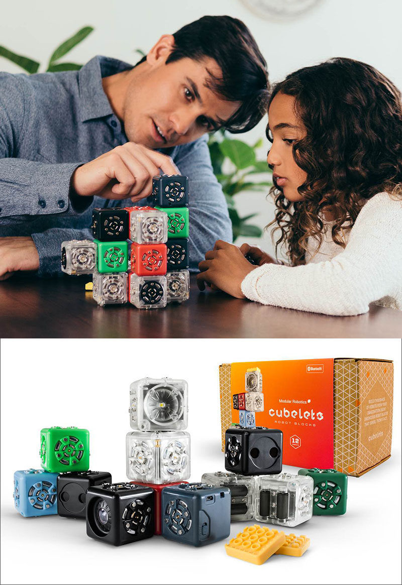 Gift Guide - 30+ Gift Ideas For The Modern Kid In Your Life // Tech Toys - Each of these cubes have a different function and can be snapped to other cubes to create mini robots and devices that they are in control of.